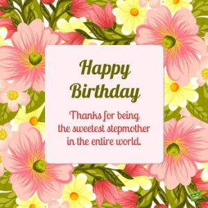 #40+ Best Happy Birthday StepMother Status Wishes (Quotes,  Greetings, Messages)  3